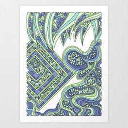 Wandering 47: color variation 2 Art Print
