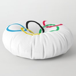 Flag of olympics games-olympic,olympic game,sport,coubertin, circles,medal,fun,international Floor Pillow