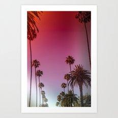 Palm Tree Romance Art Print
