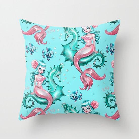 Mysterious Mermaid Throw Pillow