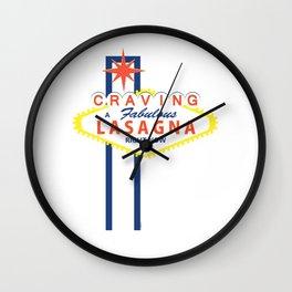 Las Vegas Lasagna Wall Clock