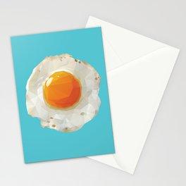 Fried Egg Polygon Art Stationery Cards