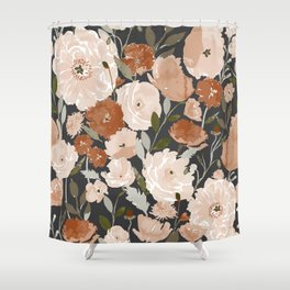 Indy Bloom Copper Poppy Garden Shower Curtain
