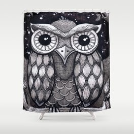 Owl II Shower Curtain