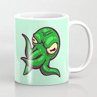 cthulhu Mugs featuring Cthulhu by Artistic Dyslexia