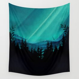 Magic in the Woods - Turquoise Wall Tapestry