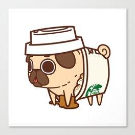 Puglie Pugkin Spice Latte Canvas Print