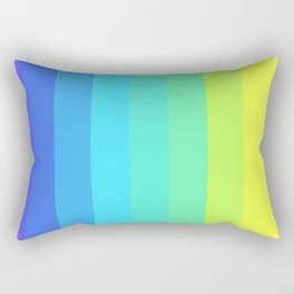 Slices Of Colors Rectangular Pillow