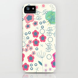 Abstract Summer Flowers iPhone Case