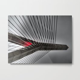 Leonard P. Zakim Bunker Hill Memorial Bridge Metal Print