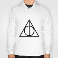deathly hallows Hoodies featuring Deathly Hallows symbol by Vera