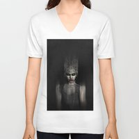 the thing V-neck T-shirts featuring Thing 1 by Spoken in Red
