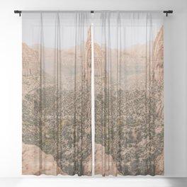 zion national park viii / utah desert Sheer Curtain