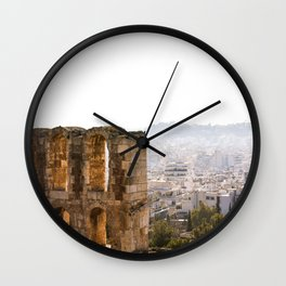 Good Morning in Greece Wall Clock