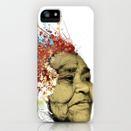 """Gabriela"" of the Kaweskar People - Color iPhone Case"