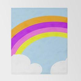 Ananda The Fairy Baby - Rainbow Throw Blanket