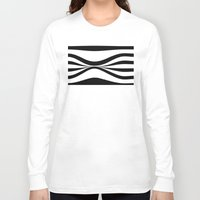 stripe Long Sleeve T-shirts featuring Stripe Bend by Julie Maxwell