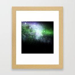 Falling sparkles Framed Art Print