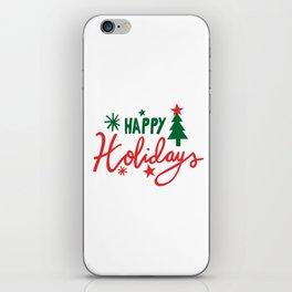 HAPPY HOLIDAYS CHRISTMAS iPhone Skin