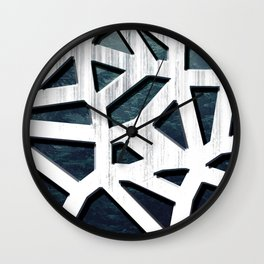 Punctured Forest Wall Clock