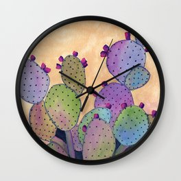 Colorful Cactus Wall Clock