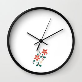Deck the Halls (Patterns Please) Wall Clock