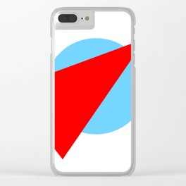 Compass: Blue and Red Clear iPhone Case