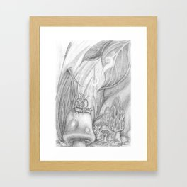 Hookah Caterpillar Framed Art Print