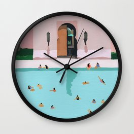 Middle Eastern Swims Wall Clock