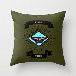 vape free Throw Pillow