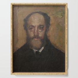 Portrait of the Art Critic Durand-Gréville Serving Tray