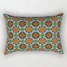Orange and Green Winter Pattern Rectangular Pillow