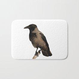 Hooded Crow Isolated Bath Mat
