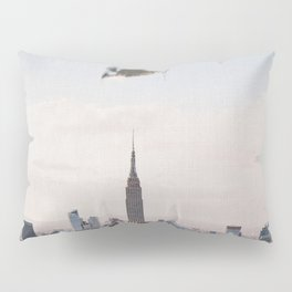 Falling-New York City Skyline Pillow Sham