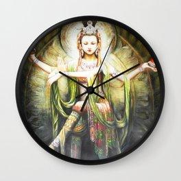 Hindu Durga 2 Wall Clock