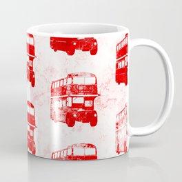 Grunge London Bus Pattern Coffee Mug