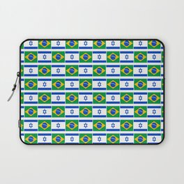 Mix of flag: Israel and brazil Laptop Sleeve
