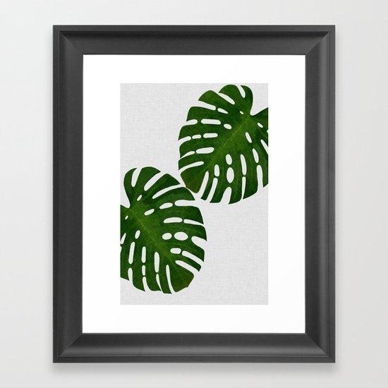 Monstera Leaf II by paperpixelprints