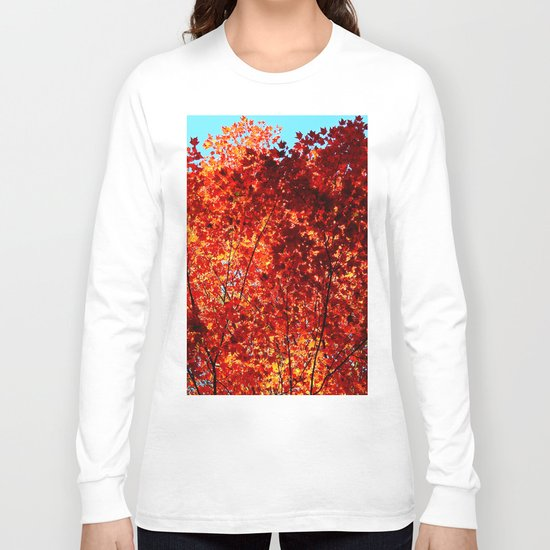 Red Maple Explosion Long Sleeve T-shirt