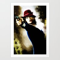 agent carter Art Prints featuring Agent Carter by Ms. Givens