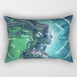 The Little Carbon Girl Rectangular Pillow