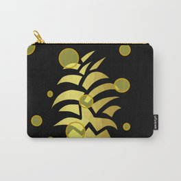 Ornate Gold Pineapple Carry-All Pouch
