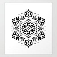 snowflake Art Prints featuring Snowflake by BWartwork