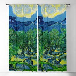 Olive Trees by Vincent Van Gogh Oil Painting Blackout Curtain