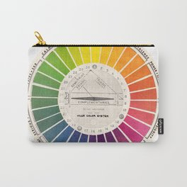 Vintage Color Wheel - Art Teaching Tool - Rainbow Mood Chart Carry-All Pouch