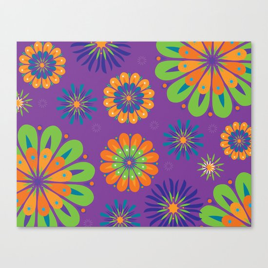 Psychoflower Purple Canvas Print