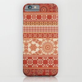 Ornate Moroccan in Red iPhone Case