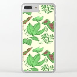 Tropical Garden Clear iPhone Case