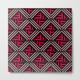 Op art rhombuses on fire Metal Print