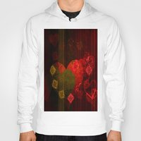valentines Hoodies featuring Valentines Hearts II by Fine2art